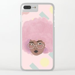 Bubblegum Girl Clear iPhone Case
