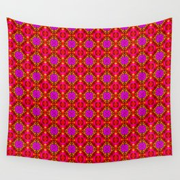 Fire Flowers Wall Tapestry