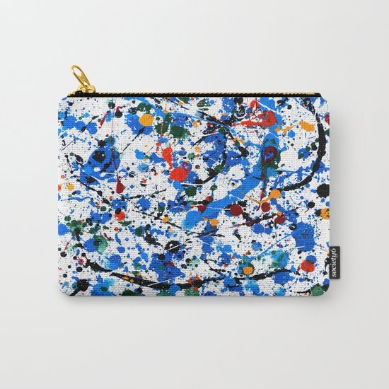 Abstract #23 - Frenzy in Blue Carry-All Pouch