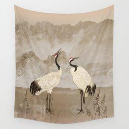 Wintering Manchurian Cranes Wall Tapestry