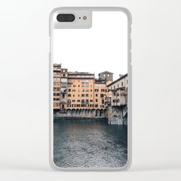 italian Architecture in Florence Clear iPhone Case