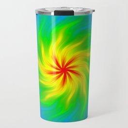 Rainbow flower Travel Mug