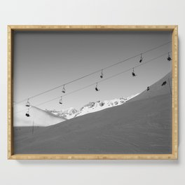 Chairlift in the air, Alps Serving Tray