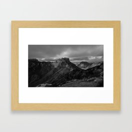 Top of Lost Mine Trail Mountaintop View, Big Bend - Landscape Photography Framed Art Print
