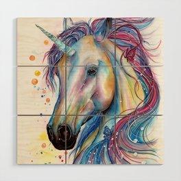 Whimsical Unicorn Wood Wall Art