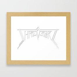 Shreveport- White Framed Art Print
