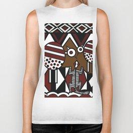 African Tribal Pattern No. 37 Biker Tank