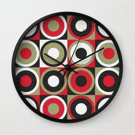 Lucky Strike retro circles Wall Clock