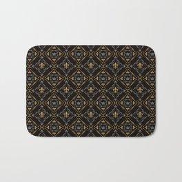 Fleur de Lis & Crown Pattern Bath Mat