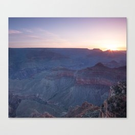 Beautiful Sunrise in the Grand Canyon Canvas Print