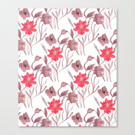 Red flowers. Canvas Print
