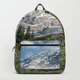 Scenic Landscape Art, Mt. Rainier, Mt. Rainier National Park, Paradise Backpack