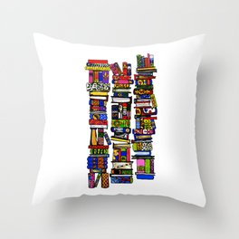 for the love of reading ... Throw Pillow