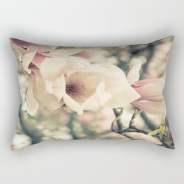 Magnolia Tree Bloom.  Flower Photography Rectangular Pillow