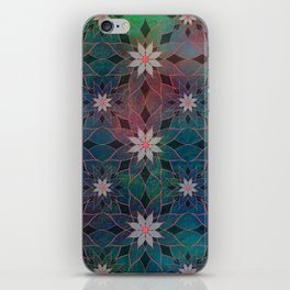 Water Lily Pattern iPhone Skin