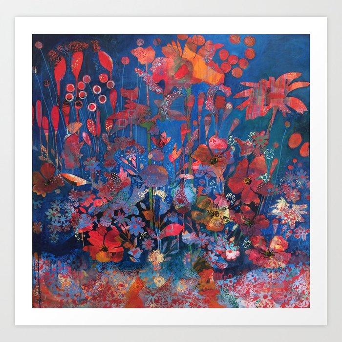 Jardin bucolique Art Print by mcfournier | Society6