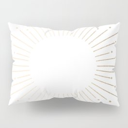 Simply Sunburst in White Gold Sands on White Pillow Sham