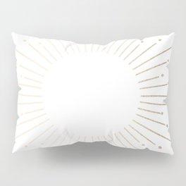 Simply Sunburst in White Gold Sands on White Pillow Sham