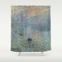 Claude Monet's Impression, Soleil Levant Shower Curtain