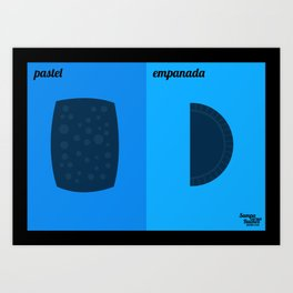 Pastel x Empanada Art Print