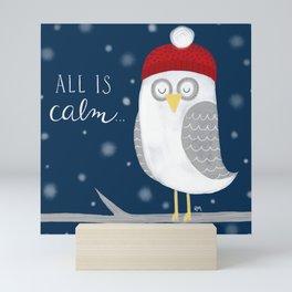 All is Calm Owl Mini Art Print