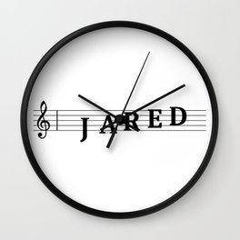 Name Jared Wall Clock