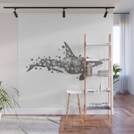 Fractured Killer Whale Wall Mural