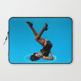 """""""Dizzy Desi"""" - The Playful Pinup - Black Lingerie Pinup Girl by Maxwell H. Johnson Laptop Sleeve"""