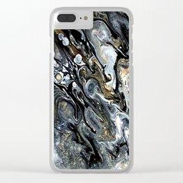 Celestial Moon Clear iPhone Case