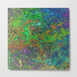 Abstract Art Percolator Frax Painting Rainbow Colors Gift Metal Print