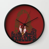 hermione Wall Clocks featuring Hermione by Rebecca McGoran