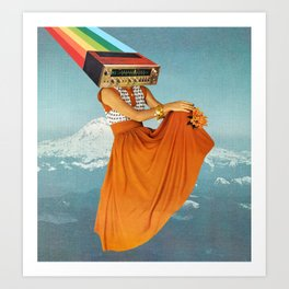 Octave Orange Art Print