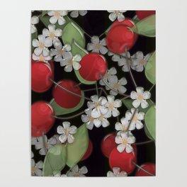 Cherry Charm, Imitation of glass Poster