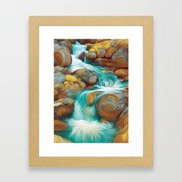 Rocky Stream Framed Art Print