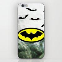 bat man iPhone & iPod Skins featuring Bat man  by haroulita