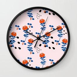 Illustrated Garden Pattern Wall Clock