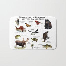 Wildlife of the Boundary Water Canoe Area Bath Mat