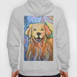 Max ... Abstract dog art, Golden Retriever, Original animal painting Hoody