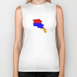 Armenia flag map Biker Tank