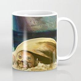 Sleepy Seal on the Beach Coffee Mug