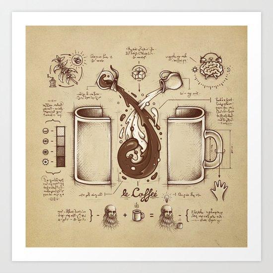 Le Coffee (Fluid of Creativity) Art Print