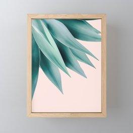 Agave flare Framed Mini Art Print