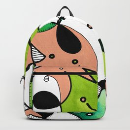 Beige Abstract Critters Backpack
