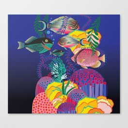 Exotic Sea Life Canvas Print