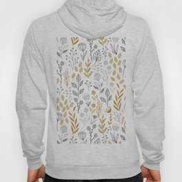 Gold & Grey Floral Pattern 05 Hoody