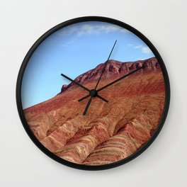 colorful mineral mountain photography 2 Wall Clock
