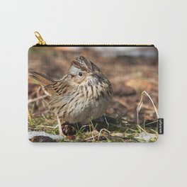 Staredown with a Lincoln's Sparrow Carry-All Pouch
