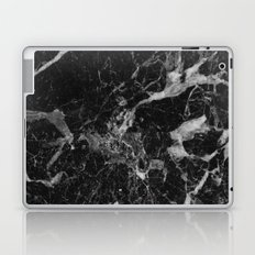 Black and Gray Marble Pattern Laptop & iPad Skin