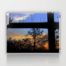 bridge and sunset Laptop & iPad Skin