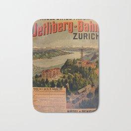 affisso Uetliberg Bahn Zurich Switzerland Bath Mat